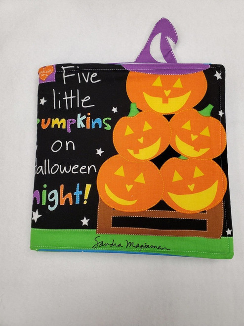 Five Little Pumpkins Cloth Story Book--Fabric to do it yourself