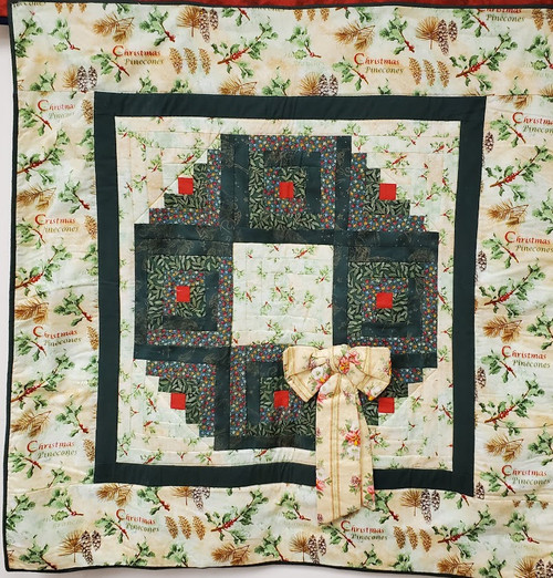 A Christmas Wreath Wall Quilt
