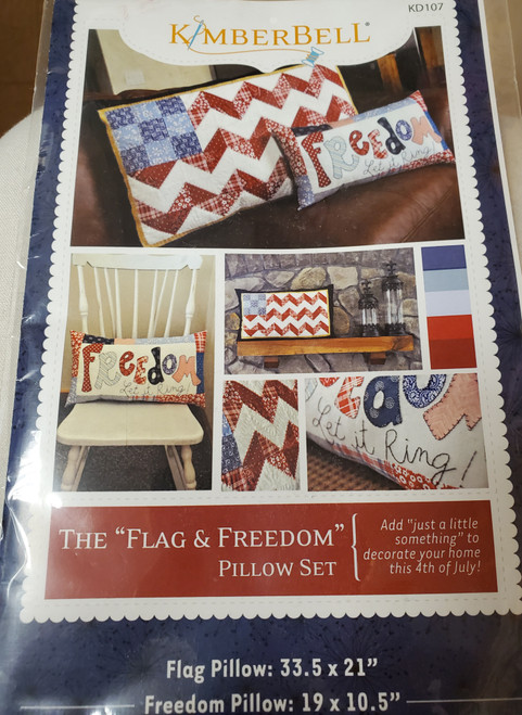 Kimberbell Flag and Freedom Pillow Set Kit