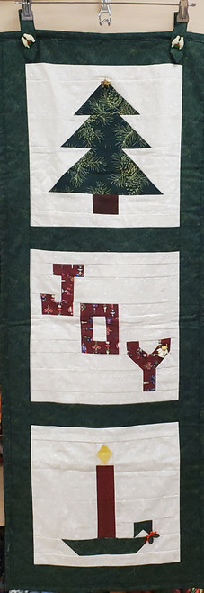 Front view of this Christmas Joy Wall Quilt