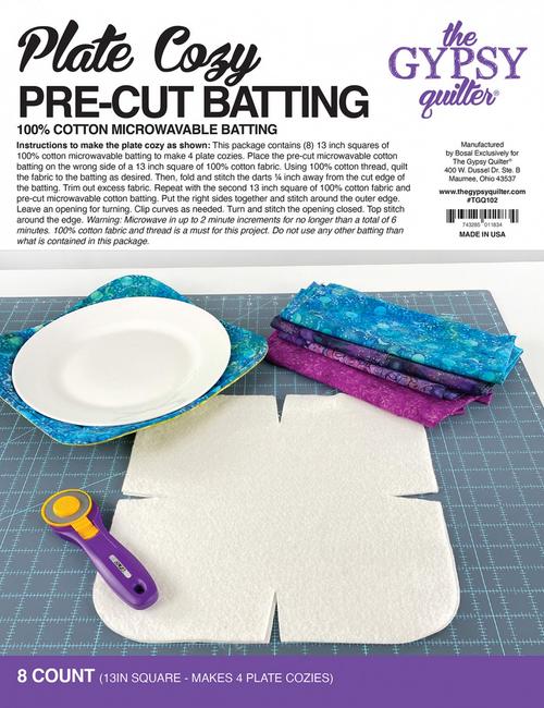 Plate Cozy Pre Cut Batting 8ct