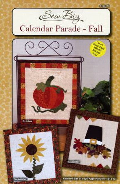 View of the front cover of the Fall Calendar Parade by Sew Biz