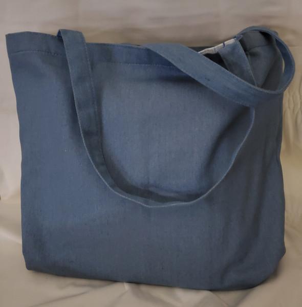 Kimberbell Blank Chambray Tote Bag.
