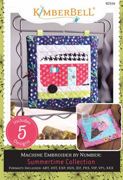 Summertime Collection Machine Embroidery CD # KD556