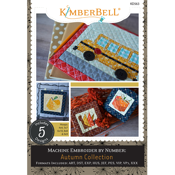 A view of the front cover of Kimberbell's Machine Embroider by Number: Autumn Collection