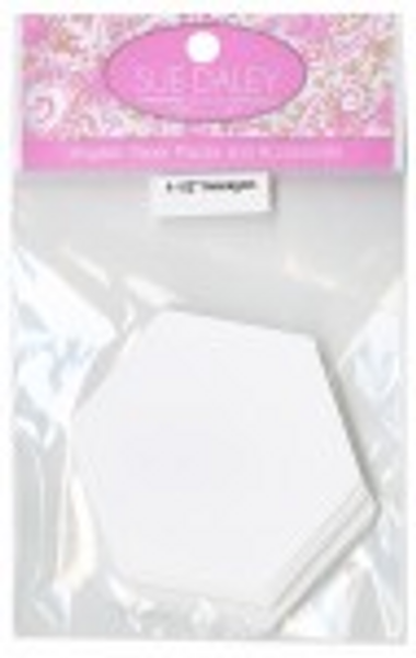 Sue Daley English paper piecing Hexagons  1 1/4 inch.....50pcs