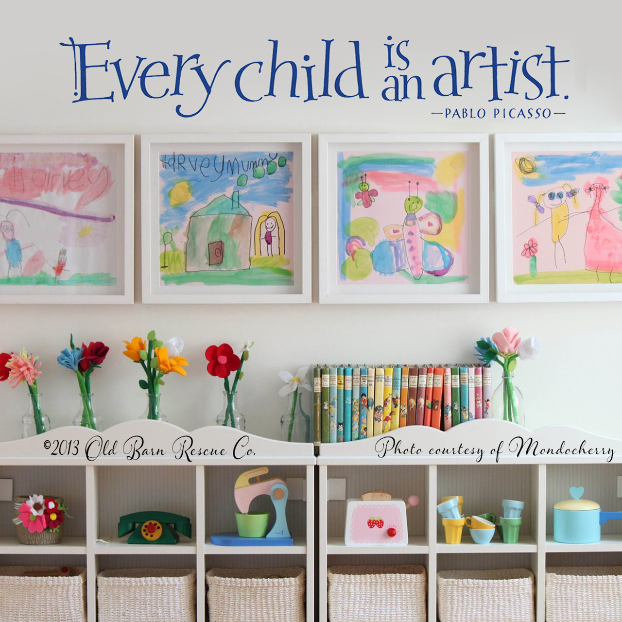 k-048 Every Child is an Artist Vinyl Wall Decal Back40life