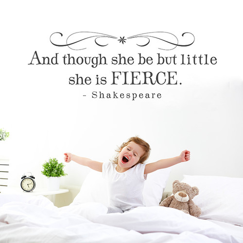 And though she be wall decal