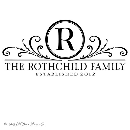 Family monogram with established date - Personalized Vinyl Wall Decal