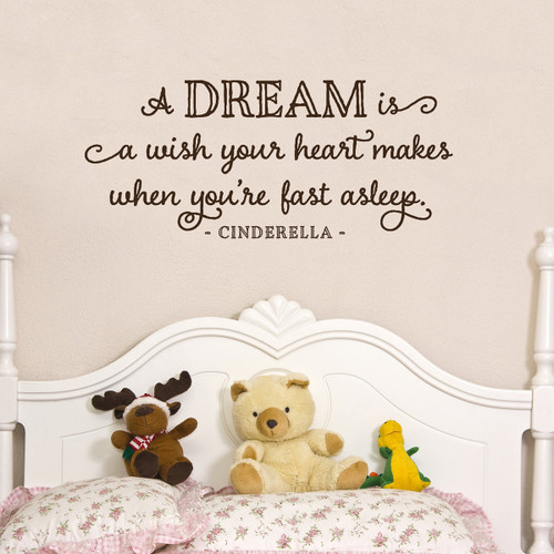 A Dream Is A Wish Your Heart Makes Cinderella | Girly Wall decals