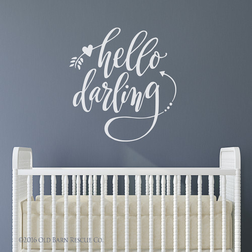 hello darling - wall decal