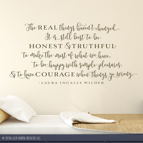 The real things - wall decal