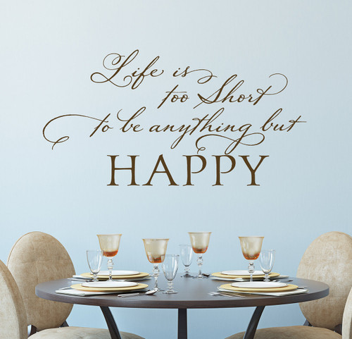 Happy Life Quotes | Motivational Wall Decals | Be Happy Wall Decor