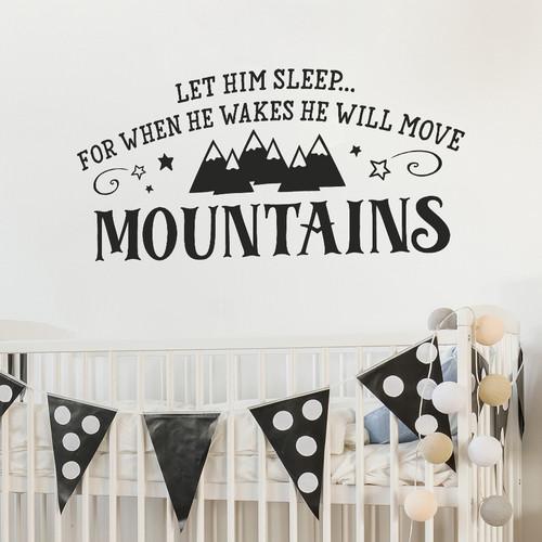 Let him sleep - boys nursery decor