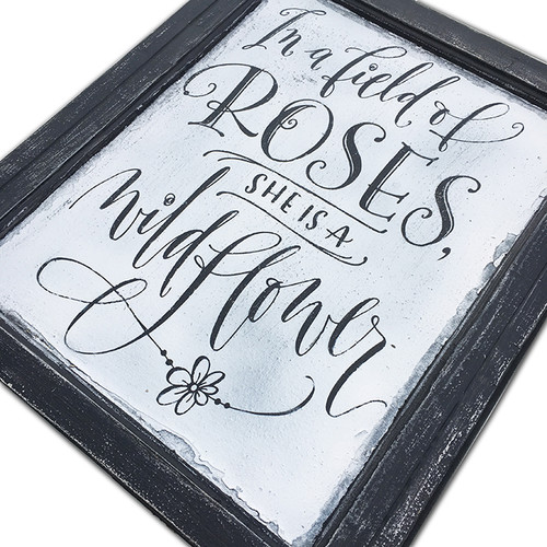 In a field of roses - SIGN