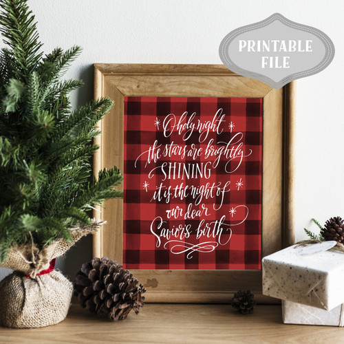 O holy night mock up wood frame