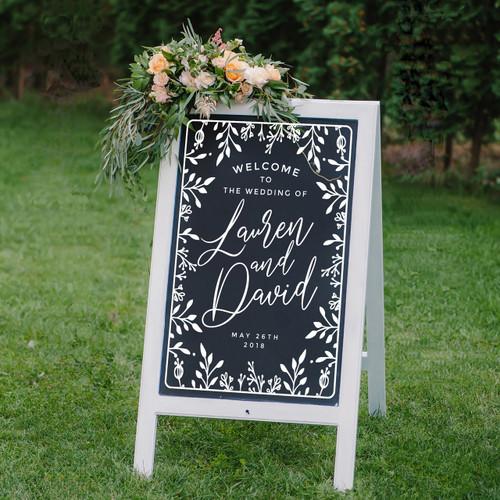 Wedding Sign Decal Lauren