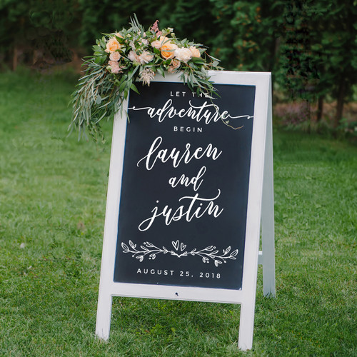 Personalized Wedding Sign Decal | DIY Wedding Sign