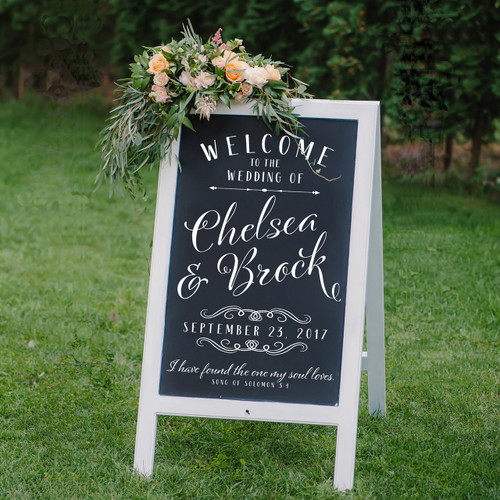 Personalized Wedding Decal - chelsea