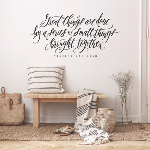 Great things are done wall decal