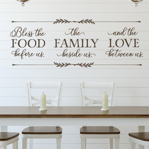 Bless the food before us - kitchen wall decal