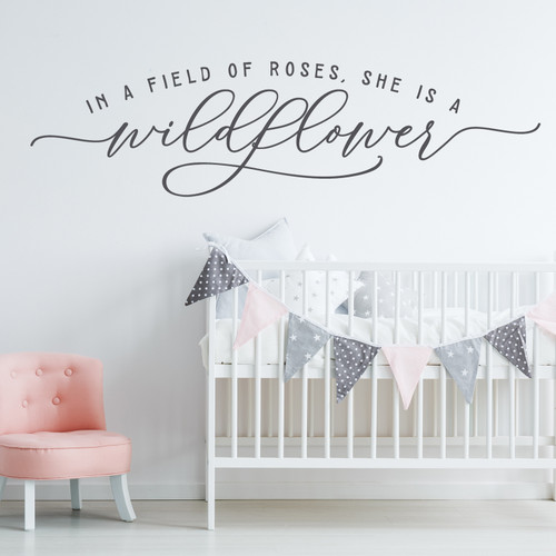 In a field of roses - Nursery Wall Decal