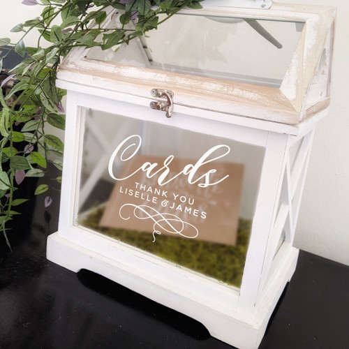 Wedding Card Box Custom Decal