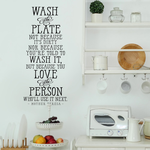 Wash the plate Quote Decal