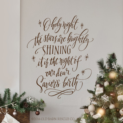 Christmas Wall Decal - O holy night