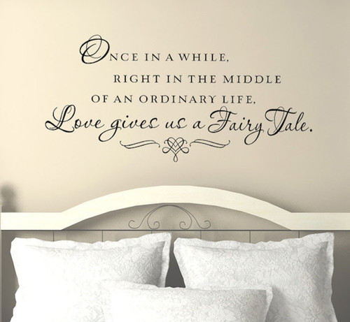 Inspirational love quotes   Love gives us a Fairy tale wall decal