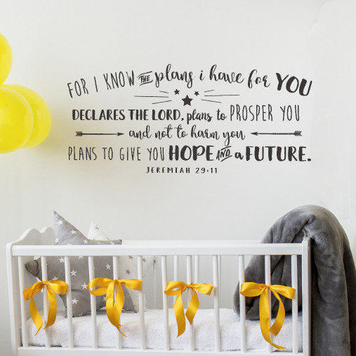 For I know the plans Wall Decal