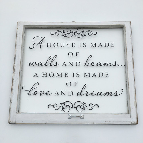A house is made window