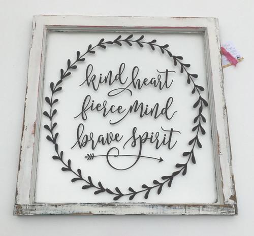Kind heart window