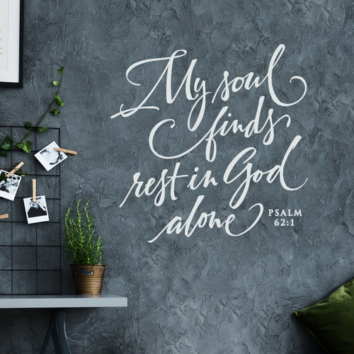 My soul finds rest in God alone