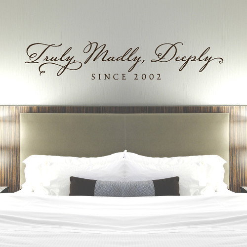 truly madly deeply wall decal