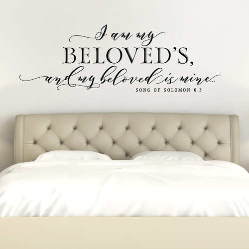I am my beloved's wall decal