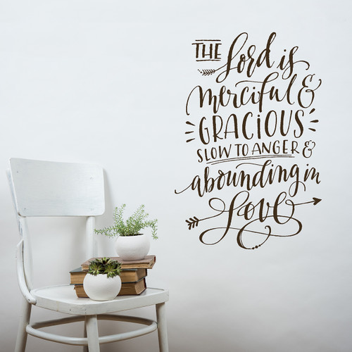 the lord is merciful wall decal