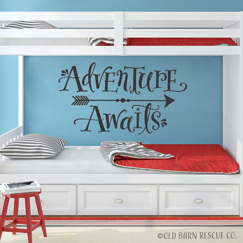 Adventure Awaits kids wall decal