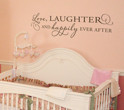 Love Laughter and Happily Ever After | Bedroom Decals