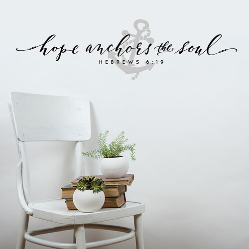 Hope anchors the soul with Anchor Decal