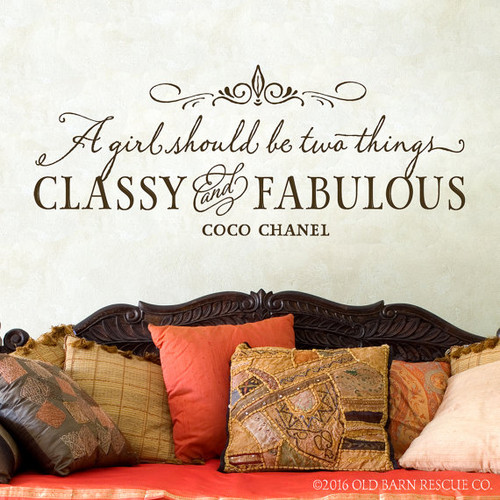 Coco Chanel quote wall decal