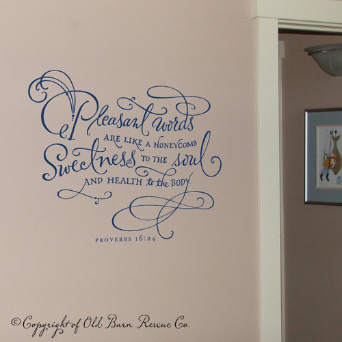 Inspiring Bible quotes - Pleasant words - Vinyl wall art