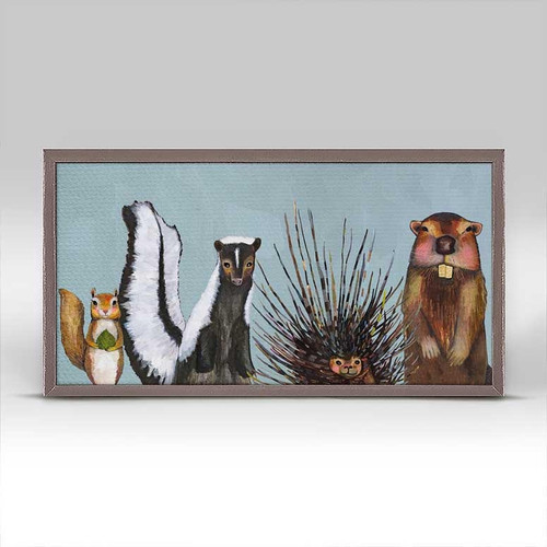 Woodland Crew Mini Framed Canvas Print Art For The People Gallery