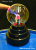 Plasma bulb in daylight.  Image shows how the light filaments follow your finger near the bulb or touching it.