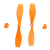 Small plastic propellers for model car, model boat, model drone and other air propelled machines. This set includes one positive propeller, one anti-propeller and two spinner cones.