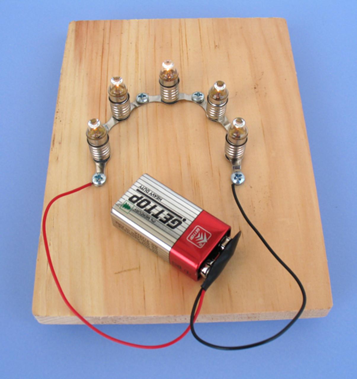 Lamp Holder - Miniature Metal Lamp Stand, Set of 10
