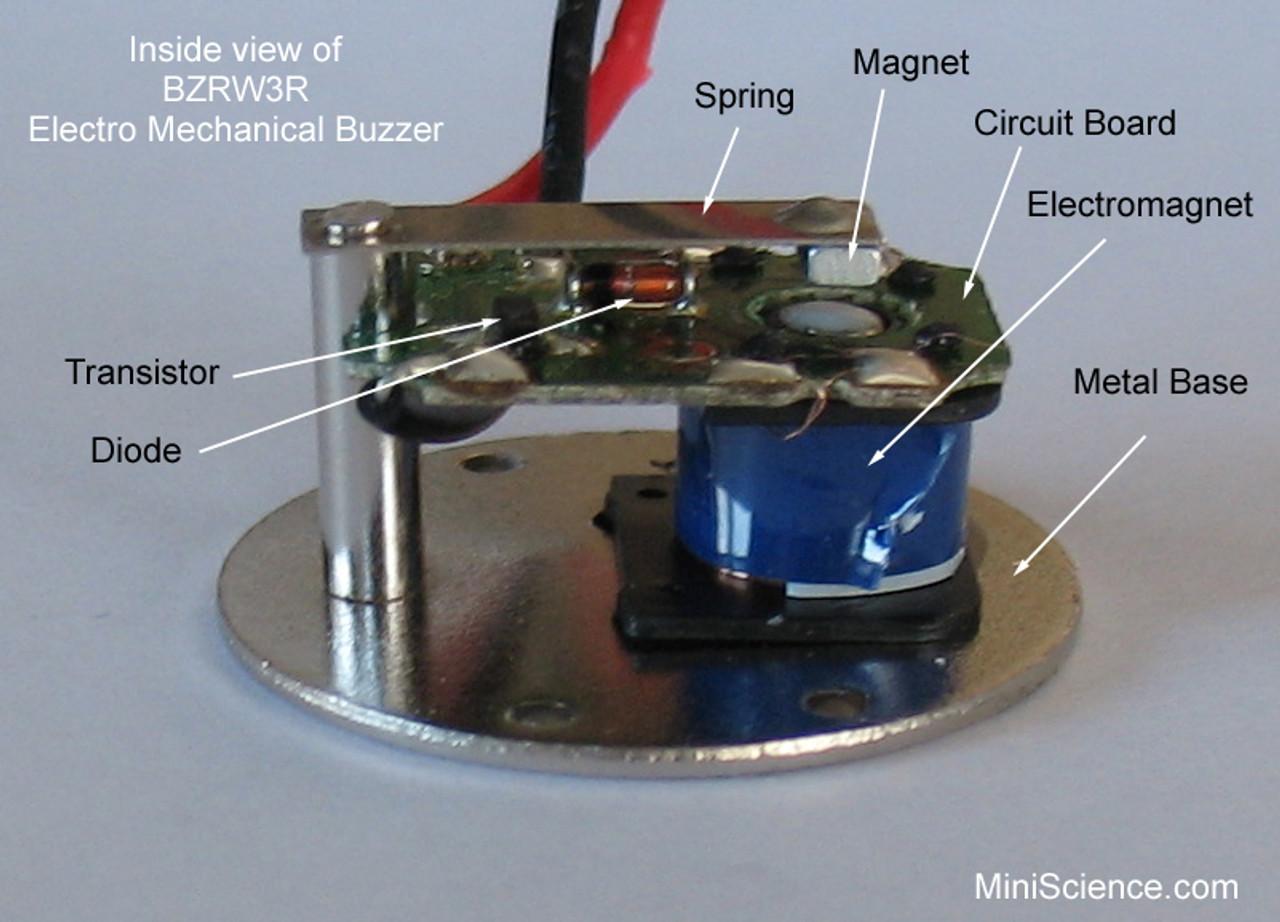 Inside the BZRW3R buzzer