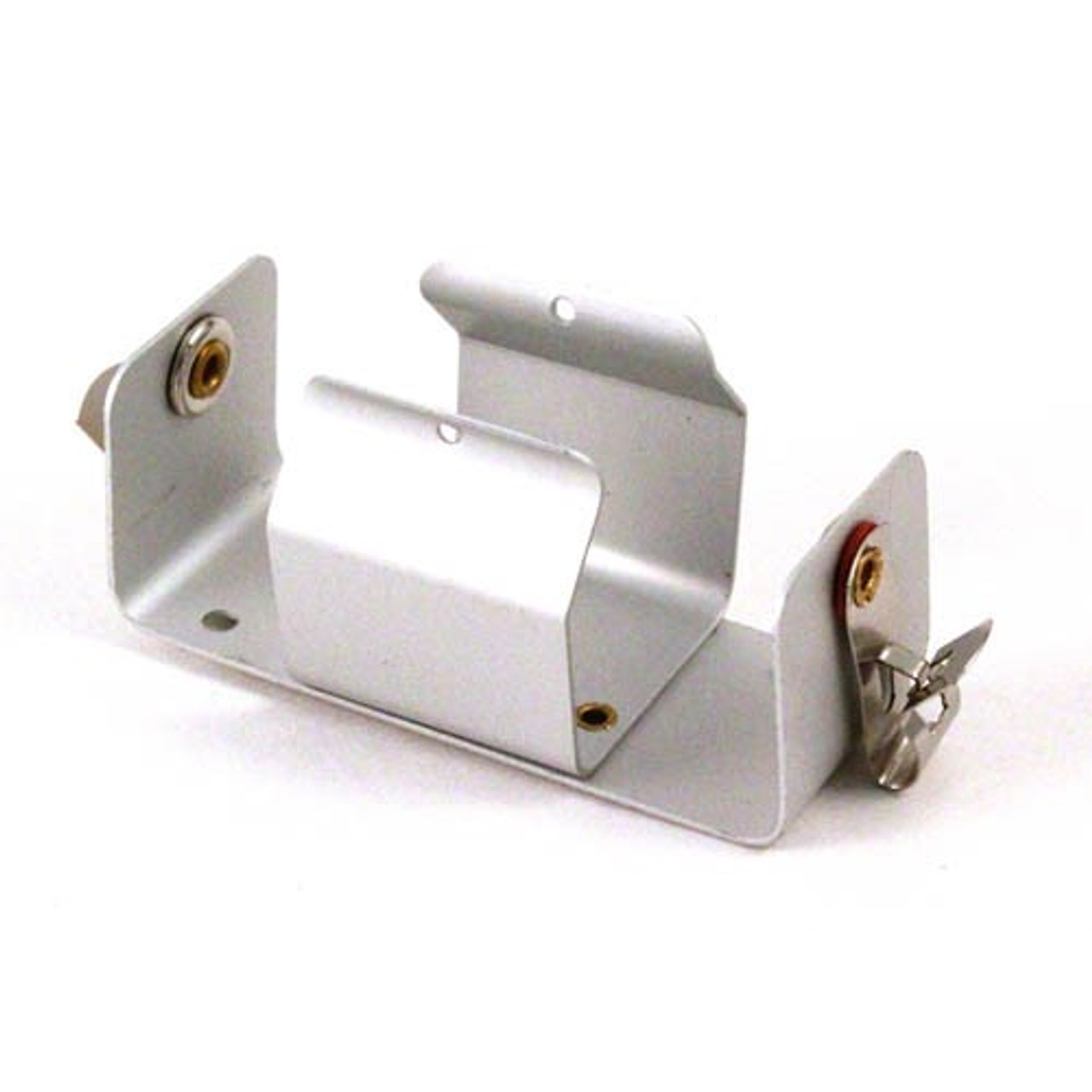 1-D metal battery holder with Fahnstock clips.
