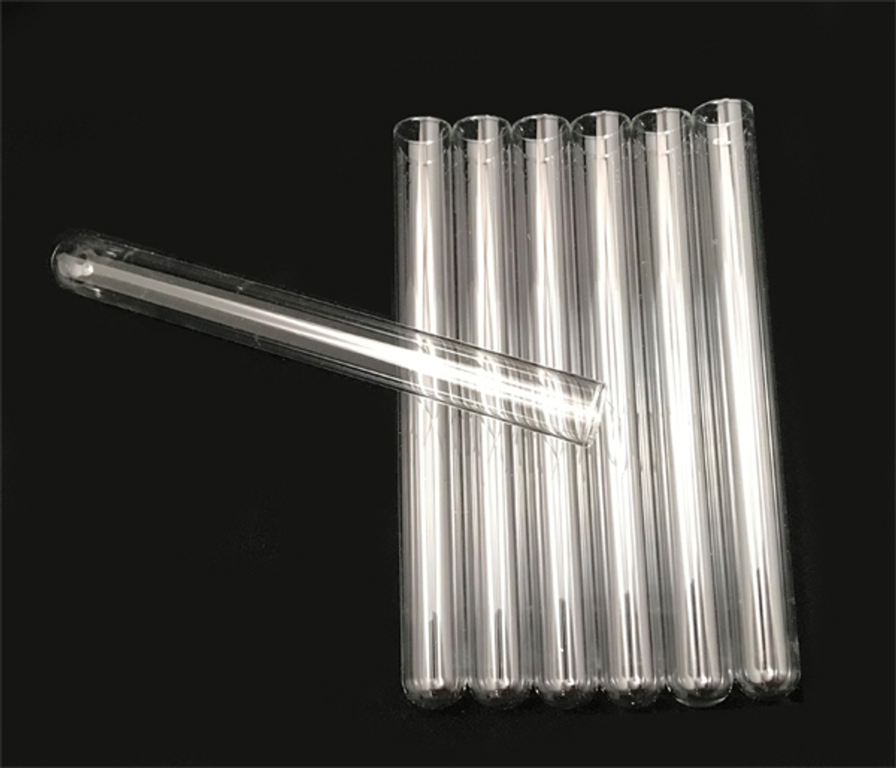Heat resistant glass test tubes