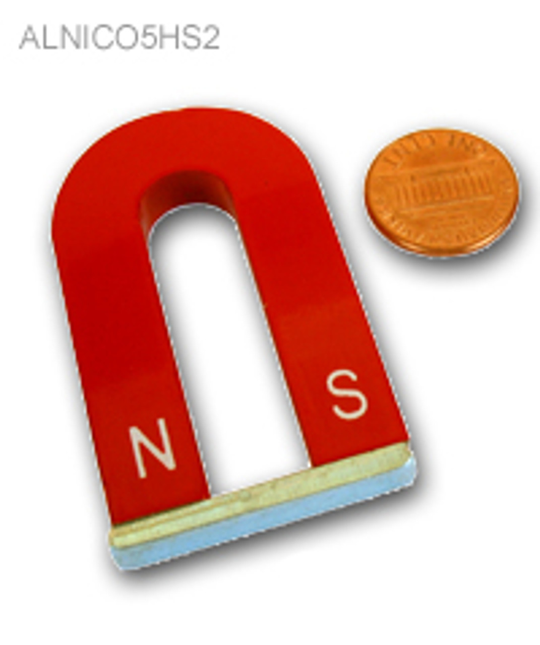 "Horseshoe Magnet, 2"" with N & S Indication, ALNICO 5"